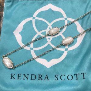 Kendra Scott Kellie white stone long necklace